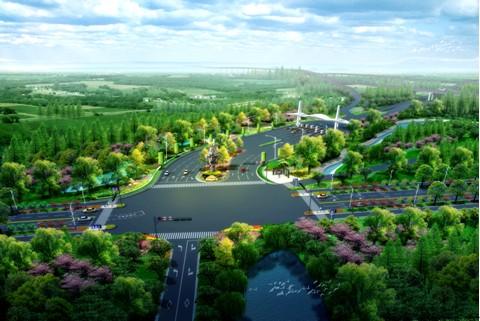 芜湖鸠江区道路绿化景观设计中标