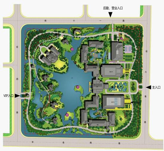 总面积:  86000 ㎡ 设计说明:温州国宾馆位于温州市瓯江口新区灵昆道